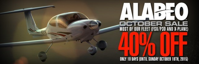 Alabeo Sale - Save 40% OFF Selected Aircraft Until 18th October 2015
