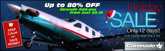 Carenado 2014 Sale Time - Up to 80% OFF Aircraft Add-ons
