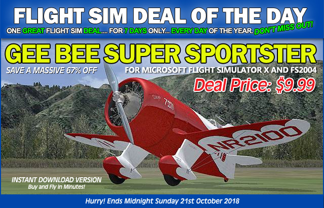 Gee Bee Super Sportster for FSX and FS2004 - Just $9.99 until 21st October 2018