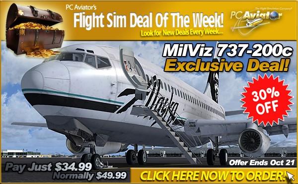 MilViz 737-200c On Sale at 30% OFF until October 21 2014