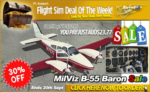Flight Sim Deal of the Week - MilViv B55 Baron is 30 Percent Off - Pay Just $26.95