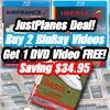 Buy 2 Just Planes BluRay Videos - Get 1 Just Planes DVD FREE!