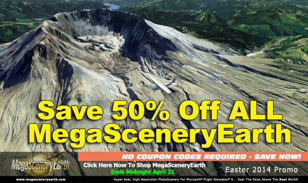 MegaSceneryEarth Sale - 50% OFF All Downloads until 21st April 2014