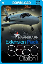 Carenado S550 Citation II Navigraph Extension Pack (FSX+P3D)