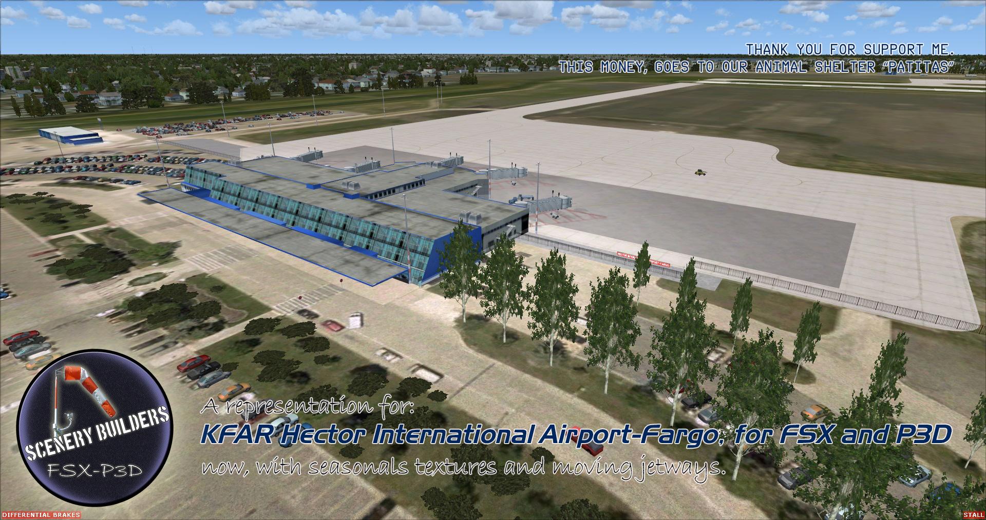 Hector International Airport-Fargo KFAR (FSX/FSX:SE/P3Dv3-v4)