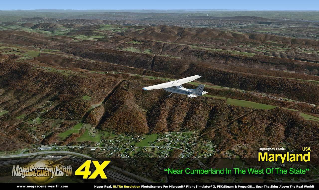 MegaSceneryEarth-4X-Maryland-FSX-P3D-PCA