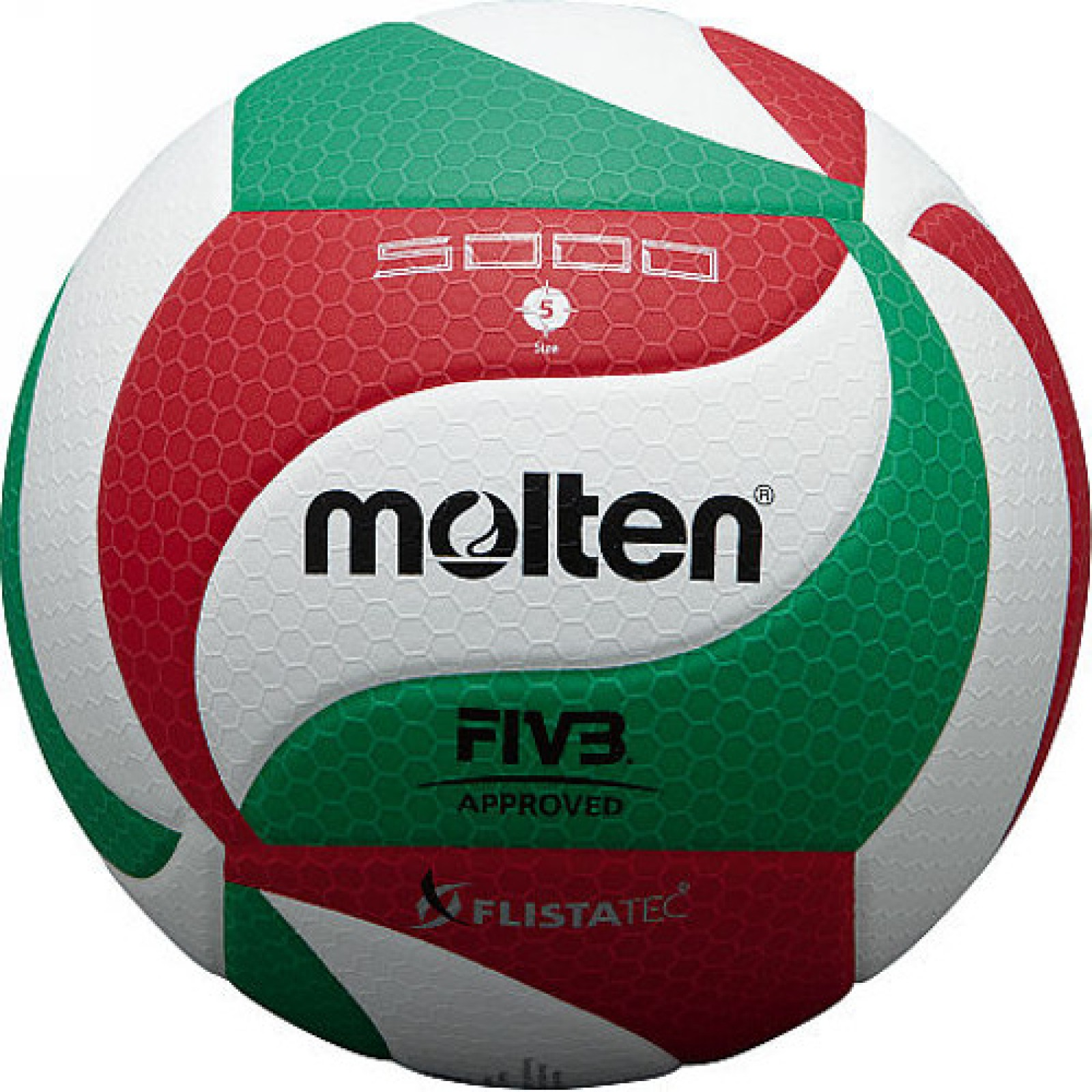 Molten V5M5000 Flistatec FIVB Approved Volleyball. View detailed images (3) 4aff5037a52c2