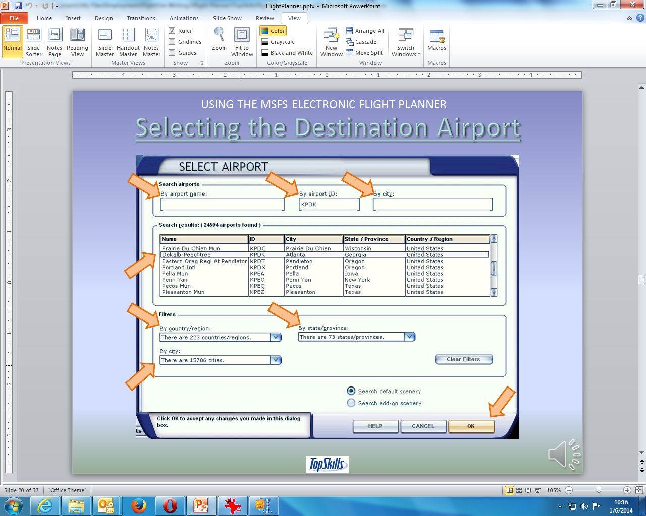 how to make a flight plan in fsx