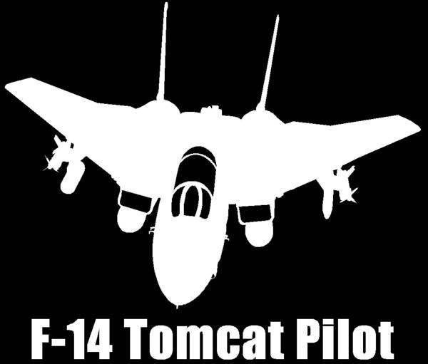 F 14 Tomcat Pilot Vinyl Decal