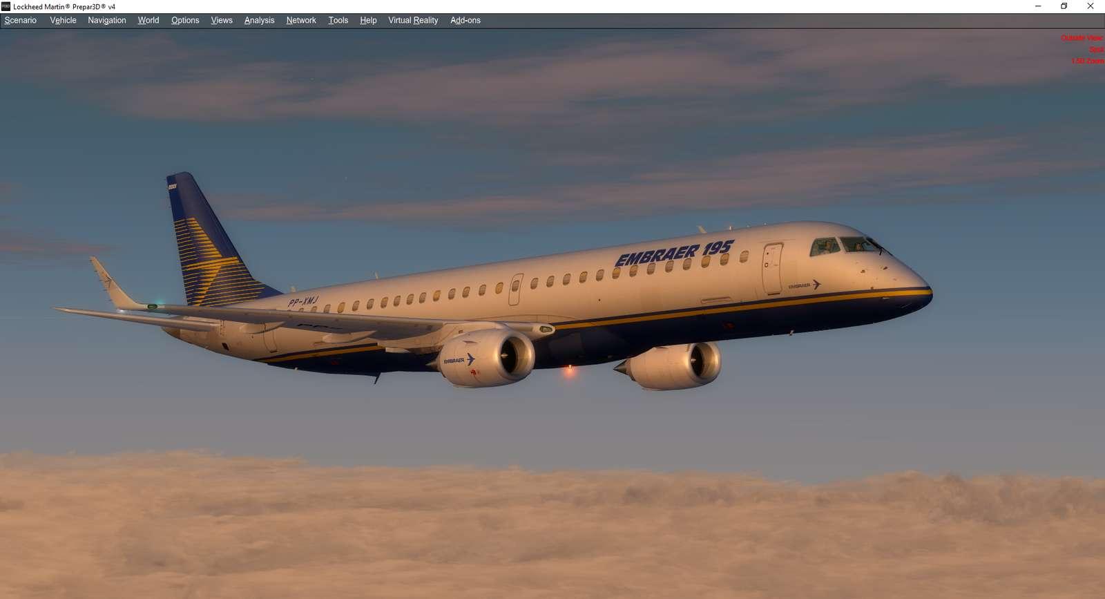 Embraer E-Jets v2 Embraer 175 and 195 (P3D v4 1)
