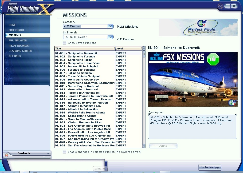 FSX Missions - KLM MD-11 (FSX/FSX:SE)