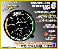 Airspeed Indicator Gauge Sticker