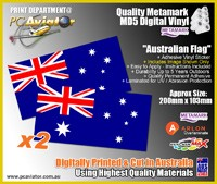 Australian Flag Sticker x2