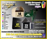 Vinyl Decal - Custom Letterbox Street Address Decal