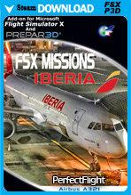 FSX Missions - Iberia A321 (FSX/FSX:SE/P3Dv2-v4)