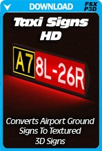 Taxi Signs HD (FSX+P3D+FS9)