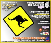 Kangaroo Road Sign Sticker