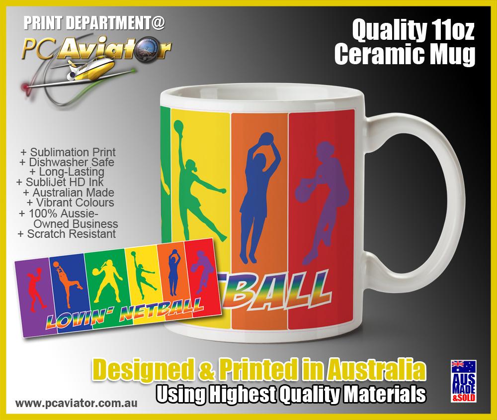 Lovin' Netball Ceramic Coffee/Tea Mug (Free Shipping)
