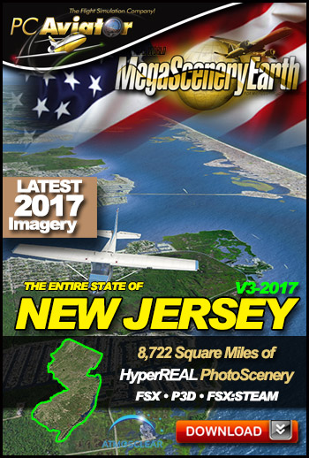 MegaSceneryEarth 3 - New Jersey 2017 (FSX/FSX:SE/P3Dv1-v4)