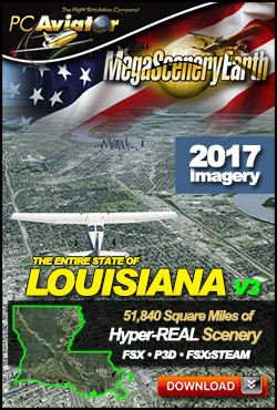 MegaSceneryEarth 3 - Louisiana (FSX/FSX:SE/P3Dv1-v4)