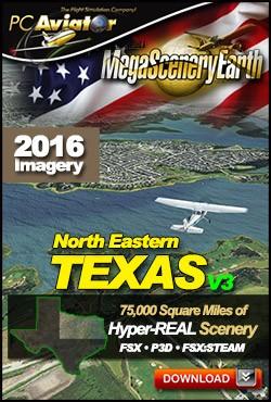MegaSceneryEarth 3 - Texas North East (FSX/FSX:SE/P3Dv1-v4)