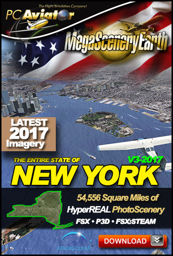 MegaSceneryEarth 3 - New York 2017 (FSX/FSX:SE/P3Dv1-v4)