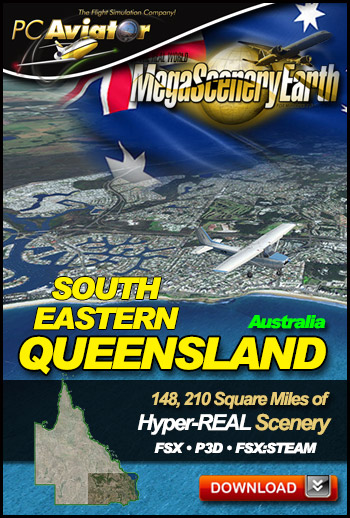 MegaSceneryEarth 3 - Queensland South East (FSX/FSX:SE/P3Dv1-v4)