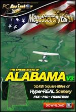 MegaSceneryEarth 3 - Alabama (FSX/FSX:SE/P3Dv1-v4)