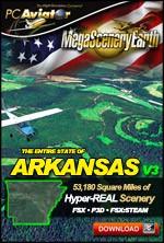MegaSceneryEarth 3 - Arkansas (FSX/FSX:SE/P3Dv1-v4)