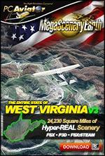 MegaSceneryEarth 3 - West Virginia (FSX/FSX:SE/P3Dv1-v4)