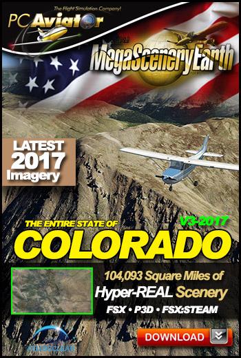 MegaSceneryEarth 3 - Colorado 2017 (FSX/FSX:SE/P3Dv1-v4)