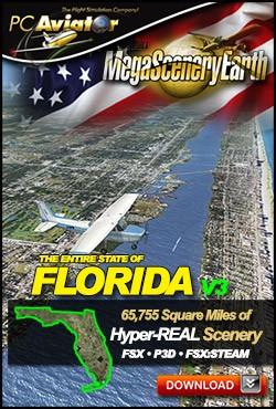 MegaSceneryEarth 3 - Florida (FSX/FSX:SE/P3Dv1-v4)
