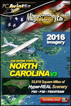MegaSceneryEarth 3 - North Carolina (FSX/FSX:SE/P3Dv1-v4)