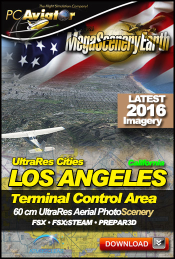MegaSceneryEarth 3 - UltraRes Cities: Los Angeles (FSX/FSX:SE/P3Dv1-v4)