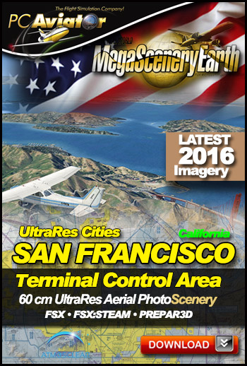 MegaSceneryEarth 3 - UltraRes Cities: San Francisco (FSX/FSX:SE/P3Dv1-v4)