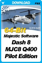 Majestic Software Dash 8 Q400 Pilot Edition 64-Bit (P3Dv4 ONLY)