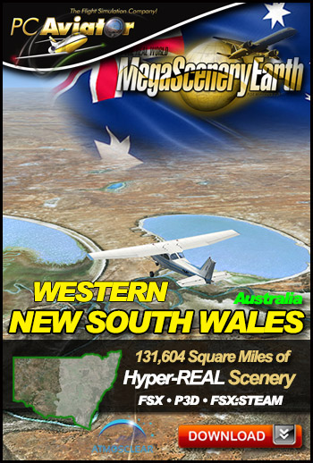 MegaSceneryEarth 3 - New South Wales Western Region (FSX/FSX:SE/P3Dv1-v4)