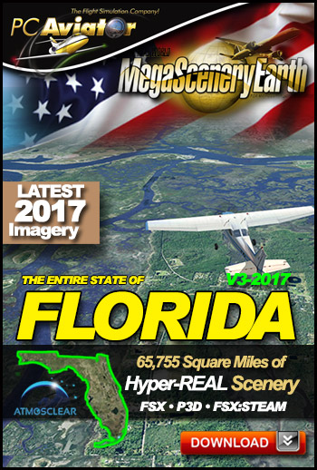 MegaSceneryEarth 3 - Florida 2017 (FSX/FSX:SE/P3Dv1-v4)