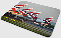 Mouse Pad - British Airliner Tails