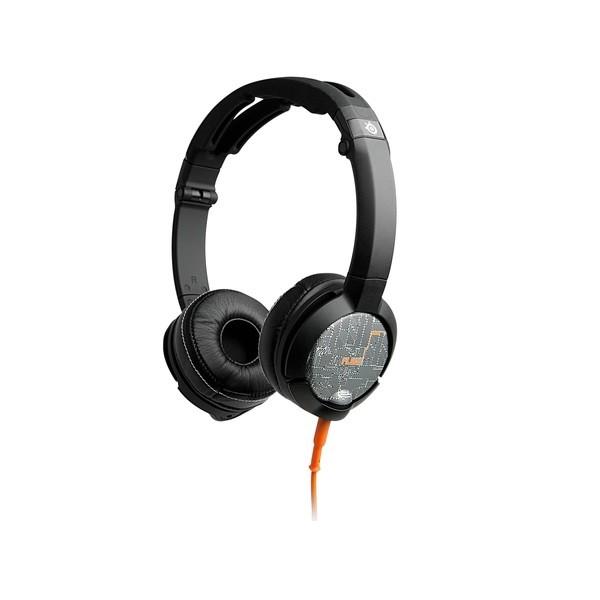 Silver, Orange & Black Flux Luxury Edition 3.5mm Headset