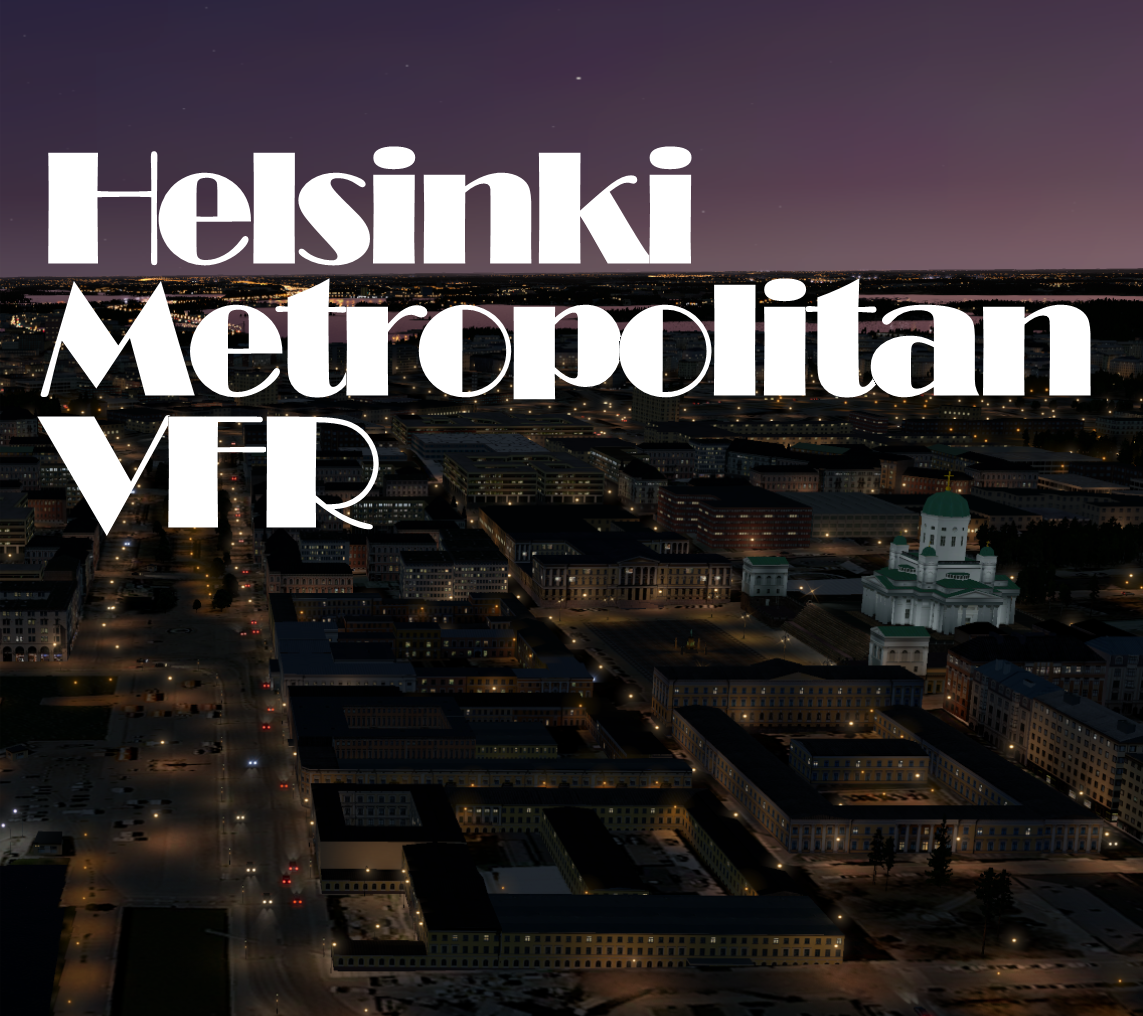 Helsinki Metropolitan VFR Scenery for X-Plane