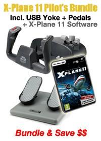 X-Plane 11 Pilot Starter's Bundle (Incl. Software + Controllers)