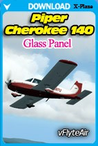 Piper Cherokee 140 Glass Panel for XPlane