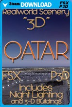 Real World Scenery: Qatar 3D 2017