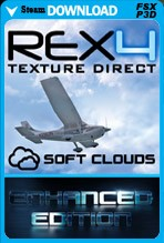 REX4 Texture Direct with Soft Clouds Enhanced Edition (FSX/FSX:SE/P3Dv1-v4)