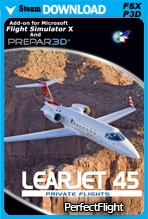 Private Flights - Learjet 45 (FSX/FSX:SE/P3Dv3,v4)