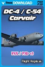 DC-4/C-54 Skymaster / Aviation Traders ATL98 Carvair (FSX/FSX:SE/P3Dv1-v3)