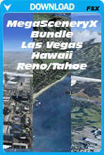 Bundle Deal - MegaSceneryX Hawaii, Las Vegas, Reno/Tahoe (FSX)
