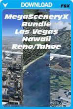 Bundle Deal - MegaSceneryX Hawaii, Las Vegas, Reno/Tahoe (FSX)