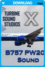 Boeing 757 PW2000 soundpack for FSX